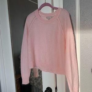 Banana Republic Pink Cropped Sweater